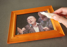 Cork Pic Frame DIY Wiping off Frame