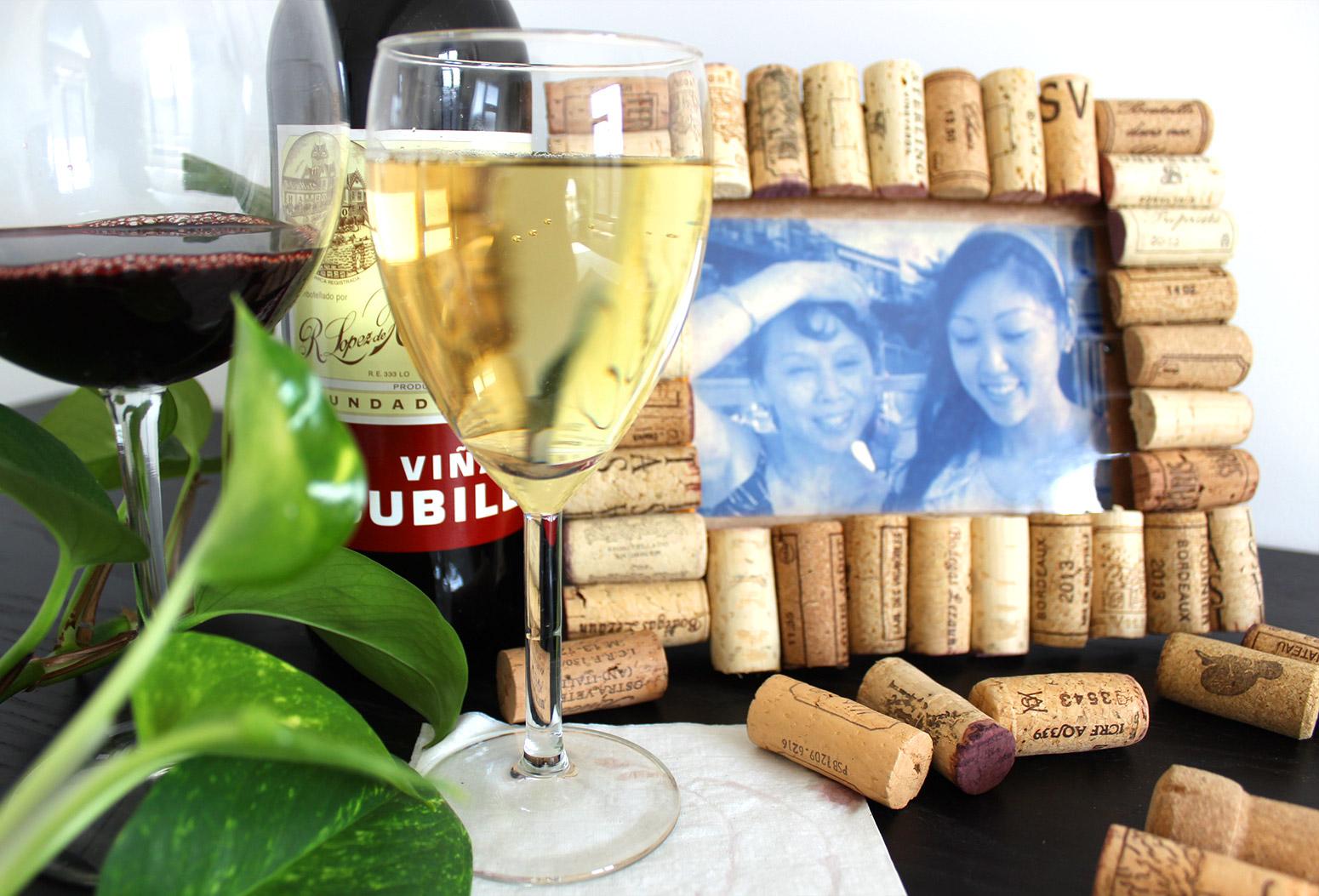 Cork Wine Photo Frame DIY