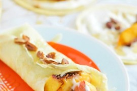 Crepes with peaches and maple glaze from Proper  A Fall Checklist for Design Lovers Crepes with peaches and maple glaze from Proper