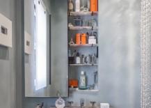 Custom-designed built-in medicine cabinet