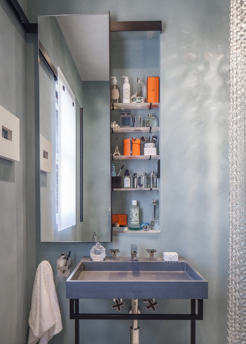 Custom-designed built-in medicine cabinet - Decoist Built In Bathroom Medicine Cabinets