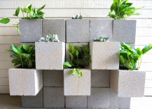 DIY cinder block wall