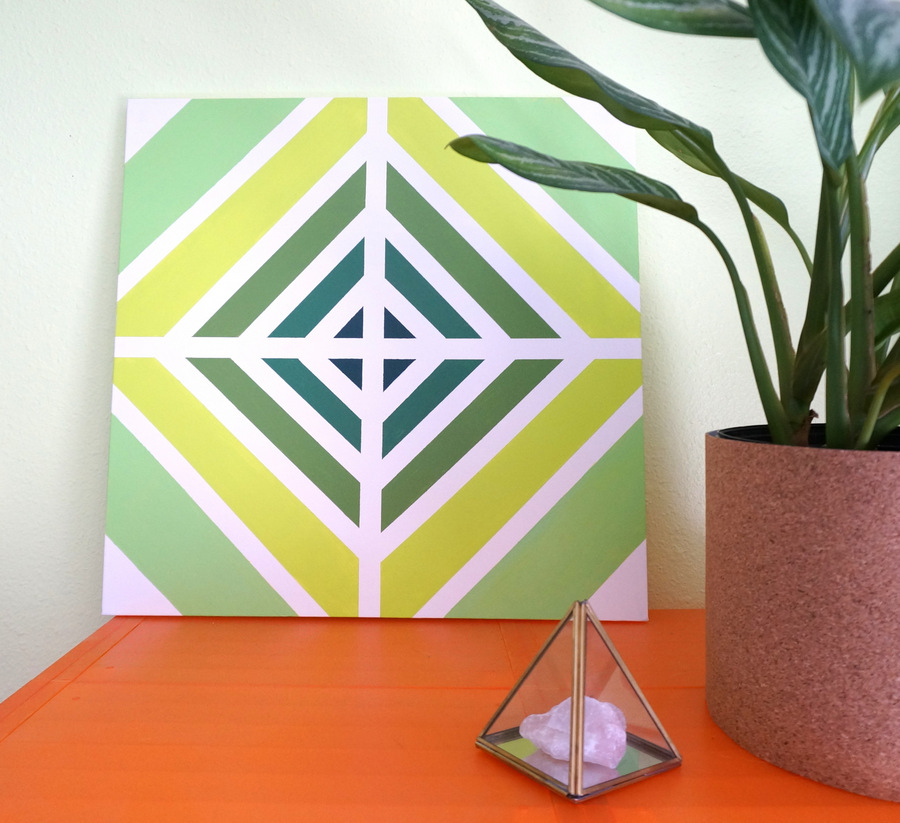 An easy diy painting with retro style for Diy paint