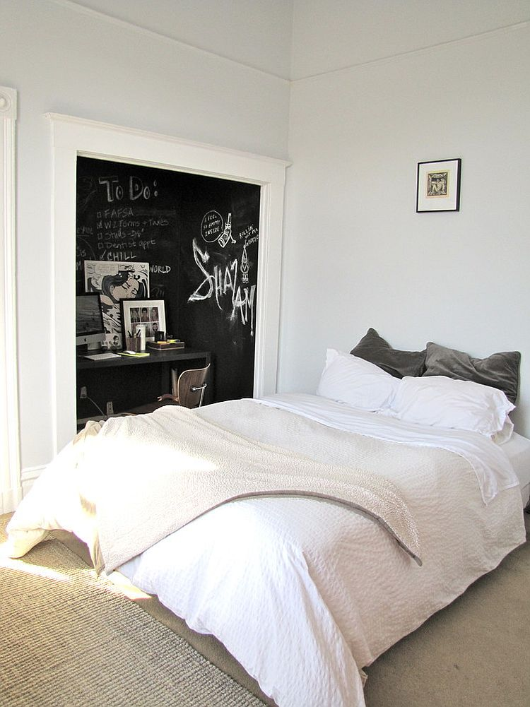 35 bedrooms that revel in the beauty of chalkboard paint On in the bedroom