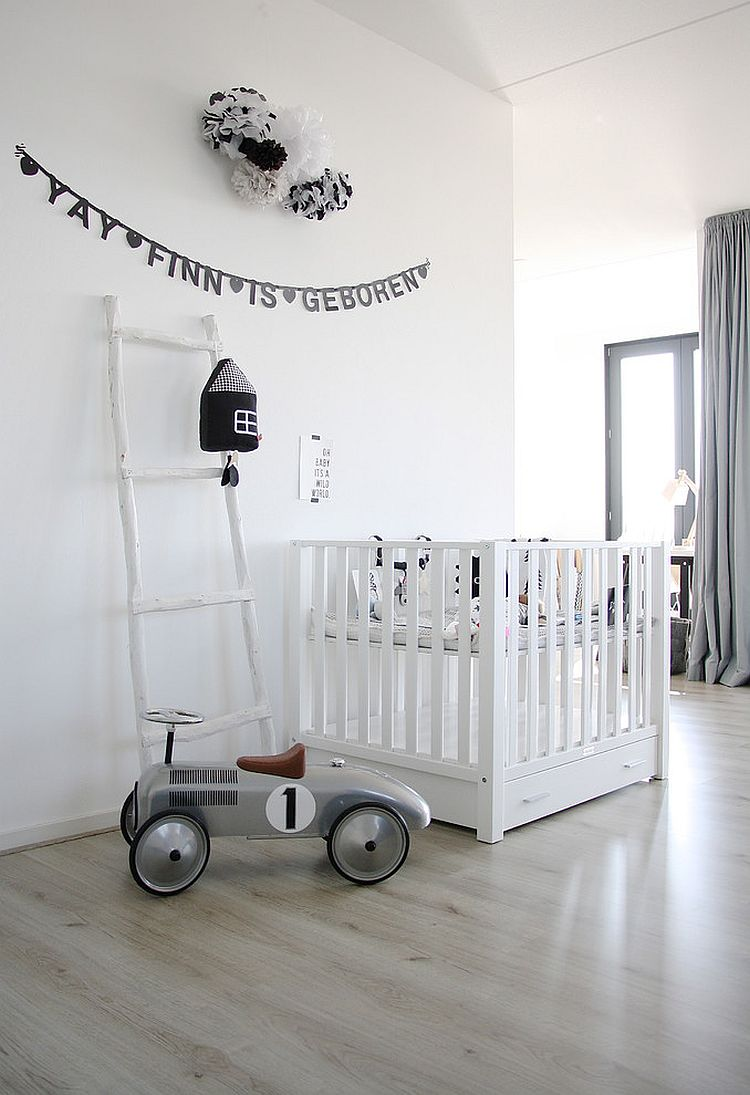 Dashing all-white nursery with minimal Scandinavian beauty [Design: Karlijn de Jong]