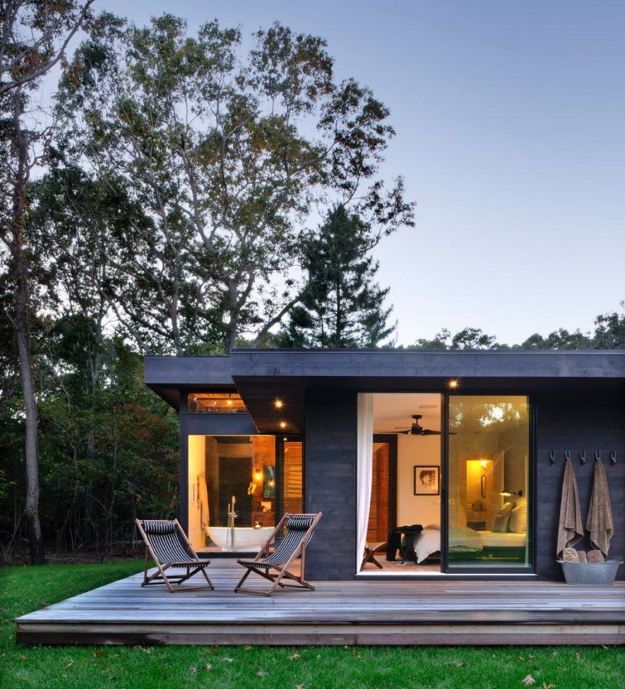 Deck featuring chairs by Gallant & Jones