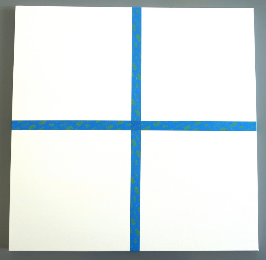 Divide your canvas into four sections