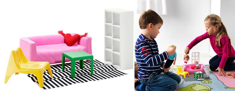 View in gallery Dollhouse furniture from IKEA