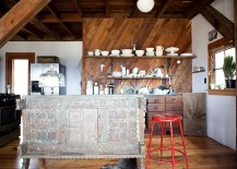 Eclectic industrial style kitchen crafted from salvaged materials