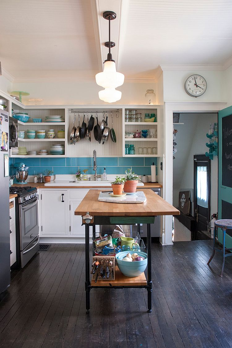 Eclectic Kitchen With A Light And Breezy Ambiance Along With Smart Kitchen Island Photography