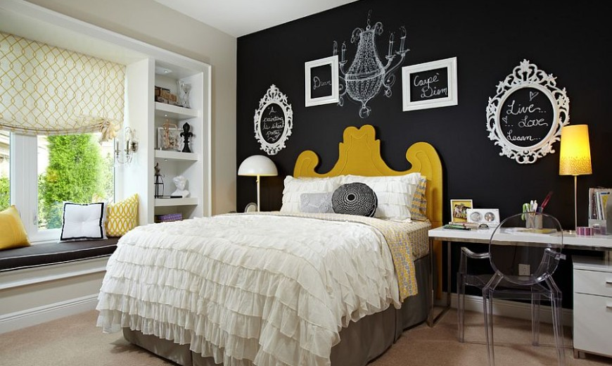 Office Valentines Day Decorations, 35 Bedrooms That Revel In The Beauty Of Chalkboard Paint