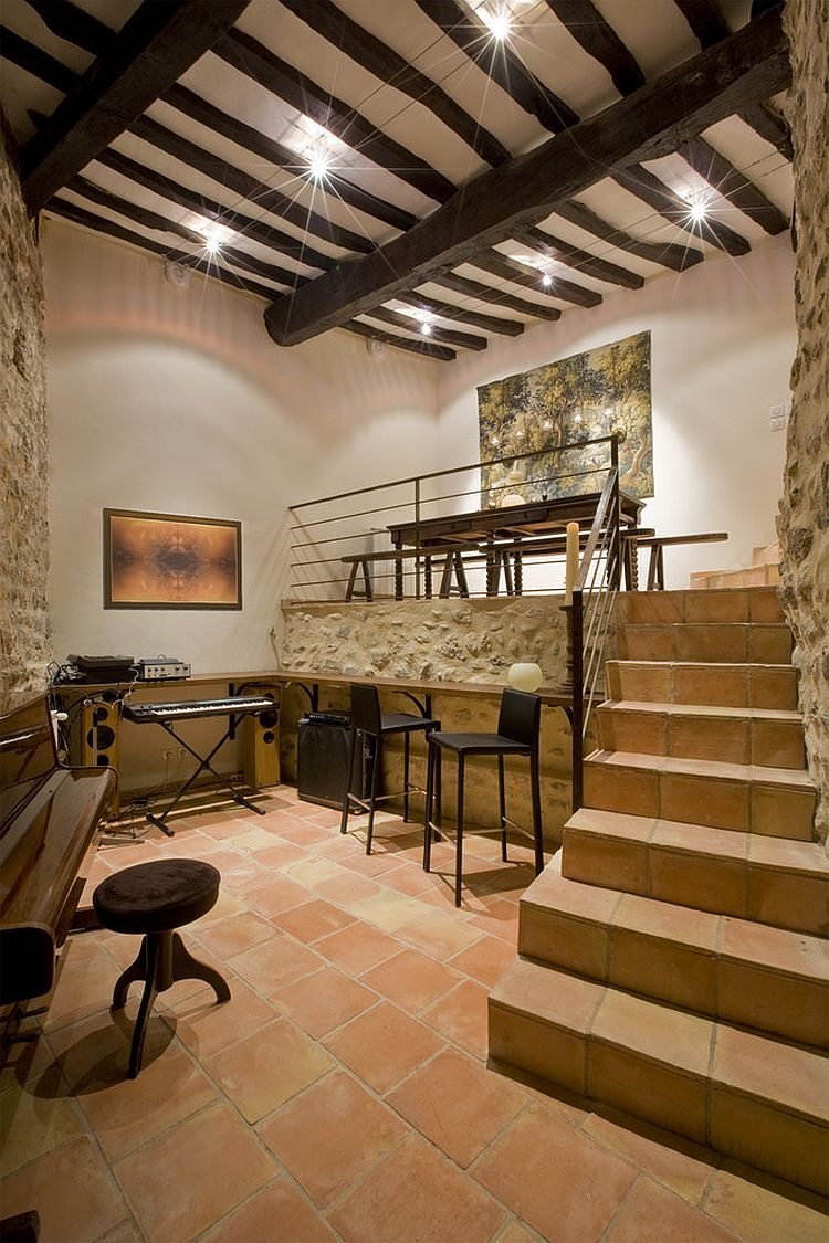 Ergonomic home office inside 800 year old French home [Design: Ernesto Santalla]
