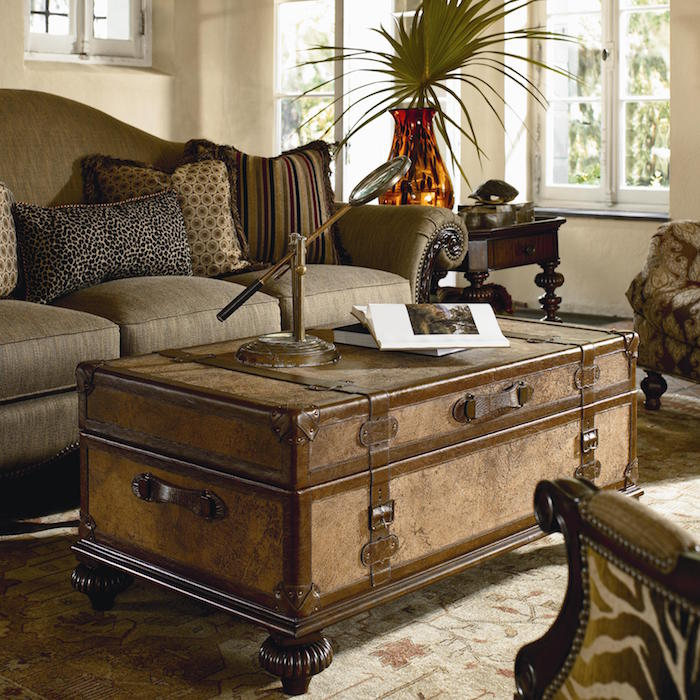 View In Gallery Ernest Hemingway Traveleru0027s Trunk Cocktail Table