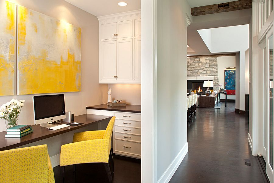 ... Even The Tiniest Home Office Could Use Some Yellow [Design: John  Kraemer U0026 Sons