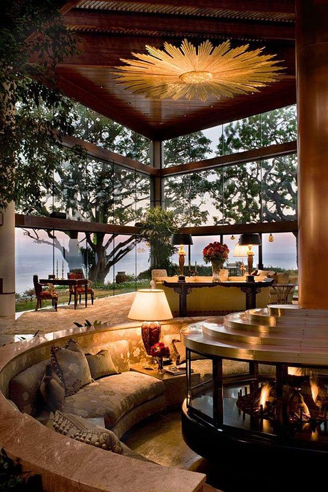 Expansive Sunken living room