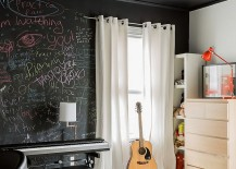 Express yourself with a chalkboard paint wall in the bedroom