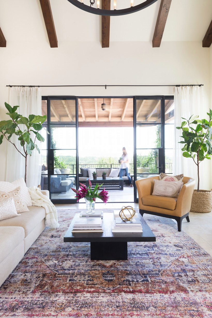 Fall makeover in the living room of Camille Styles