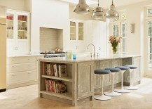 Farmhouse style kitchen with a lovely island that complements its style