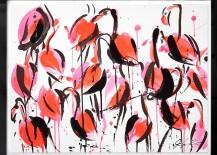 Flamingo artwork by Jenna Snyder-Phillips