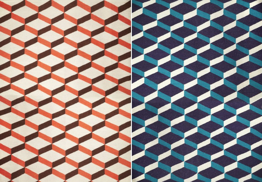 Flat weave rugs from Jonathan Adler