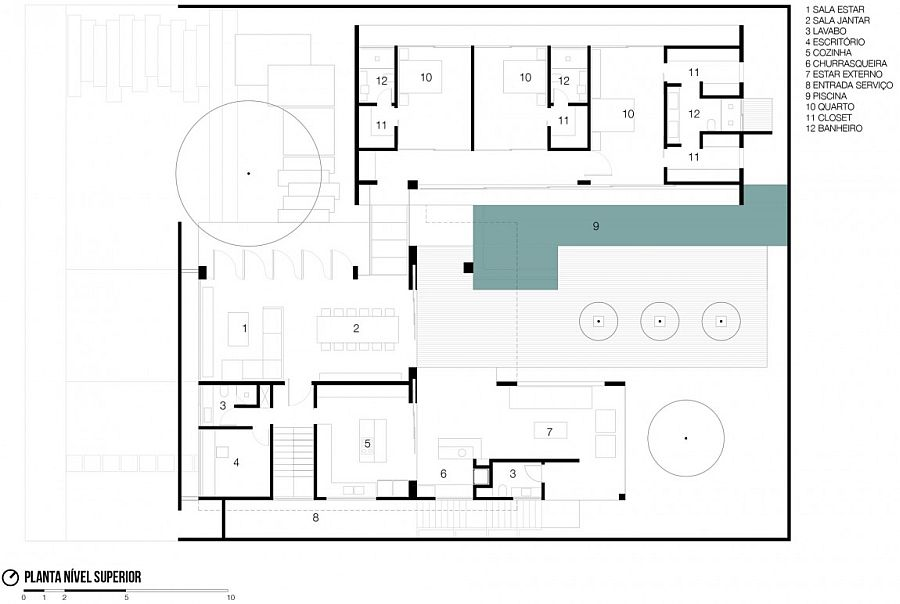 Floor plan of the RMJ Residence in Brazil
