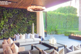 FloraFelt Vertical Garden Living Room Opening Out to Deck