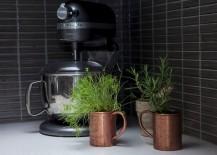 Fresh herbs in chef Kimberly VanKline's kitchen