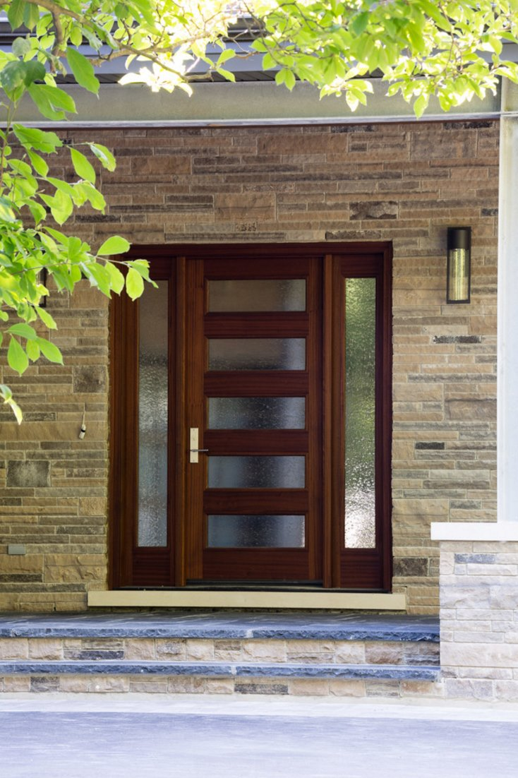 The many uses of rain glass for Entrance door design ideas