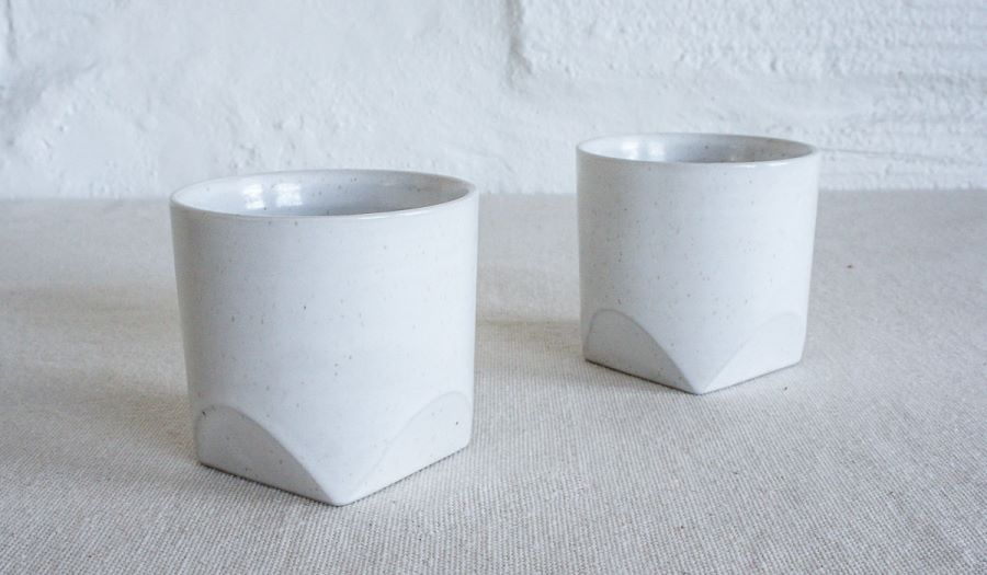 Geo ceramic cups from Spartan