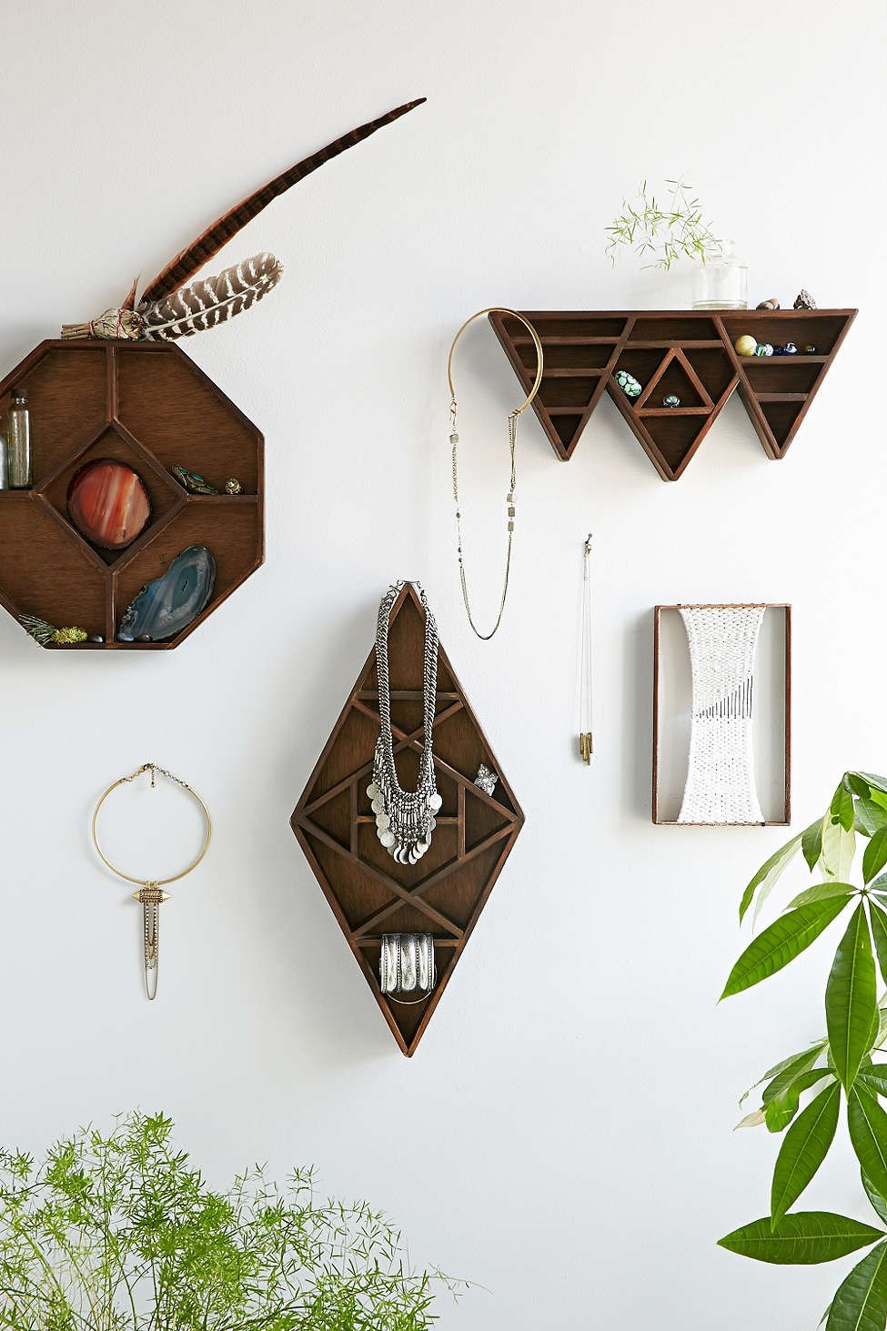 Geo display shelving from Urban Outfitters