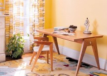 Geometric Vector writing table and Utopia rug