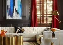 Glam sectional sofa from Jonathan Adler
