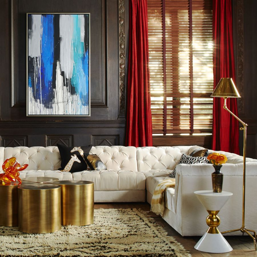View in gallery glam sectional sofa from jonathan adler