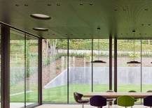 Glass walls create a stunning ambiance indoors