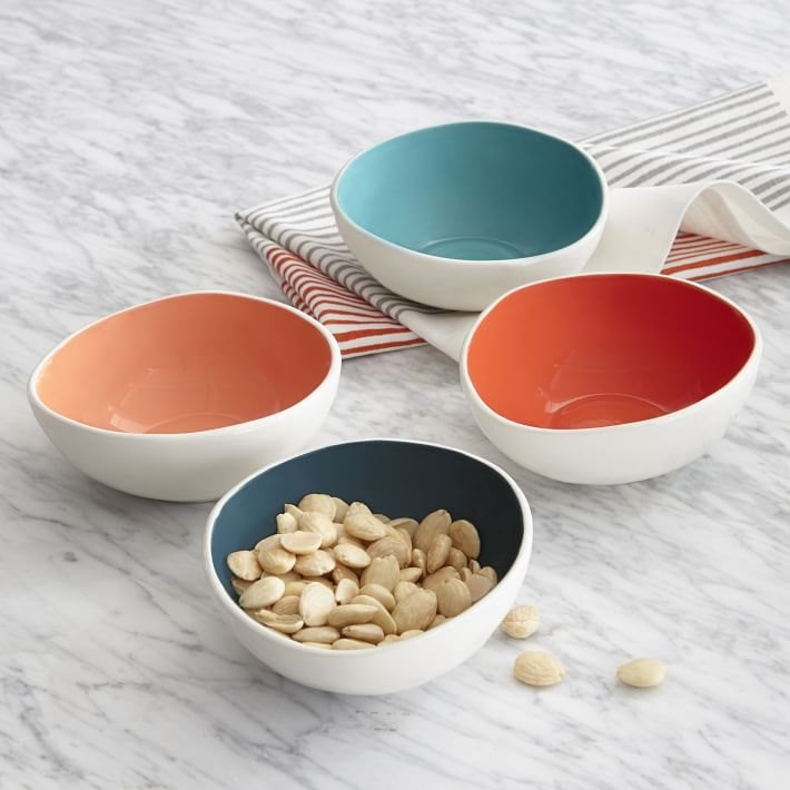 Glazed prep bowls from West Elm