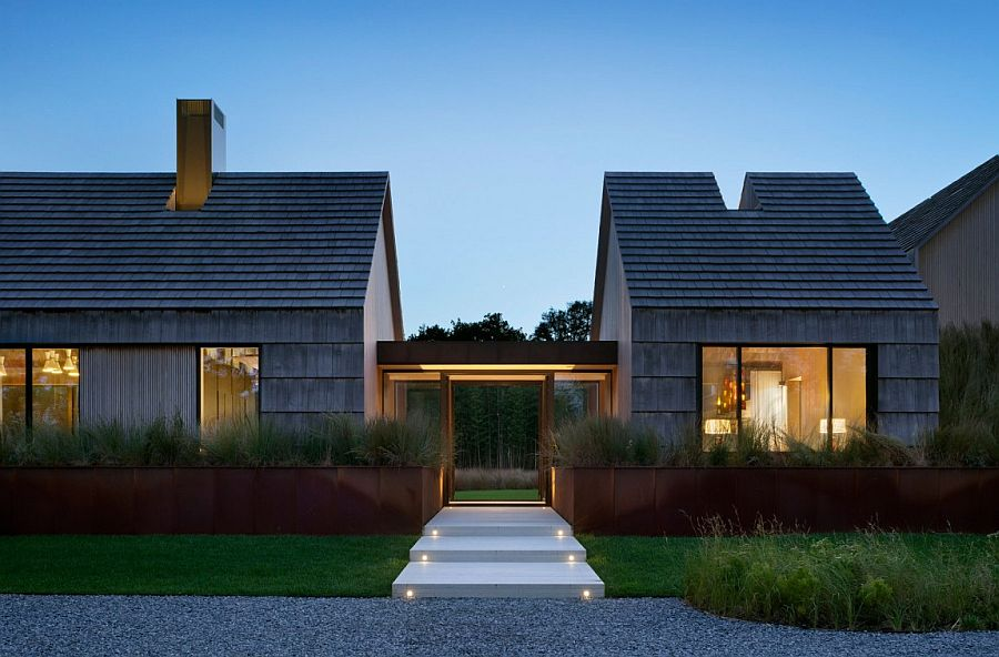 Gabled Potato Barns Inspire Modern East Hampton Family Home