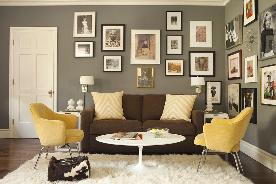 Office Interior Wall Colors Gorgeous. Gorgeous Gallery Wall And Sitting  Area In The Home Office