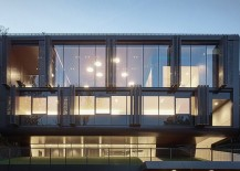 Gorgeous glass facade of the Austrian residence with electrically driven shading system 217x155 One Home – Two Faces: Perforated Steel Shading System Enthralls at House GT