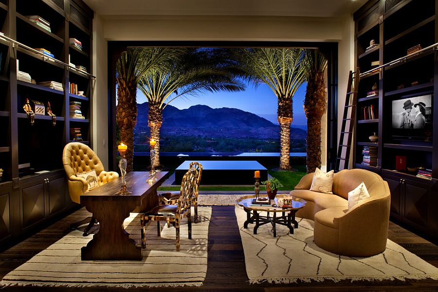 Gorgeous home office connected with the landscape outside [Design: Gordon Stein Design]