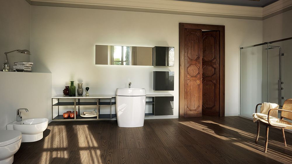 Habi bathroom design with modern ergonomics and minimal for Ergonomic designs bathroom
