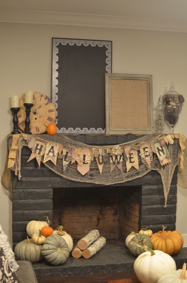 18 Spooktacular Halloween Ideas For Your Fireplace Mantel