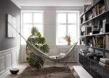 Hammock for a library 217x155 18 Indoor Hammocks to Take a Relaxing Snooze In Any Time