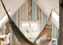 Hammock sanctuary in an attic