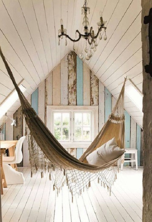 Hammock sanctuary in an attic