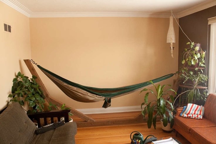 View in gallery Hammock that comes with a stand - 18 Indoor Hammocks To Take A Relaxing Snooze In Any Time