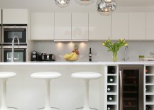High gloss kitchen design with smart island [Design: LWK Kitchens London]