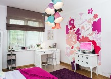 Incorporating floral prints and motif into the girls' bedroom design