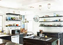 Industrial eclectic kitchen is a trendy choice for the contemporary homeowner