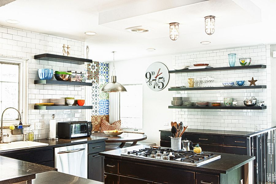 Industrial eclectic kitchen is a trendy choice for the contemporary homeowner [From: Design Platform]