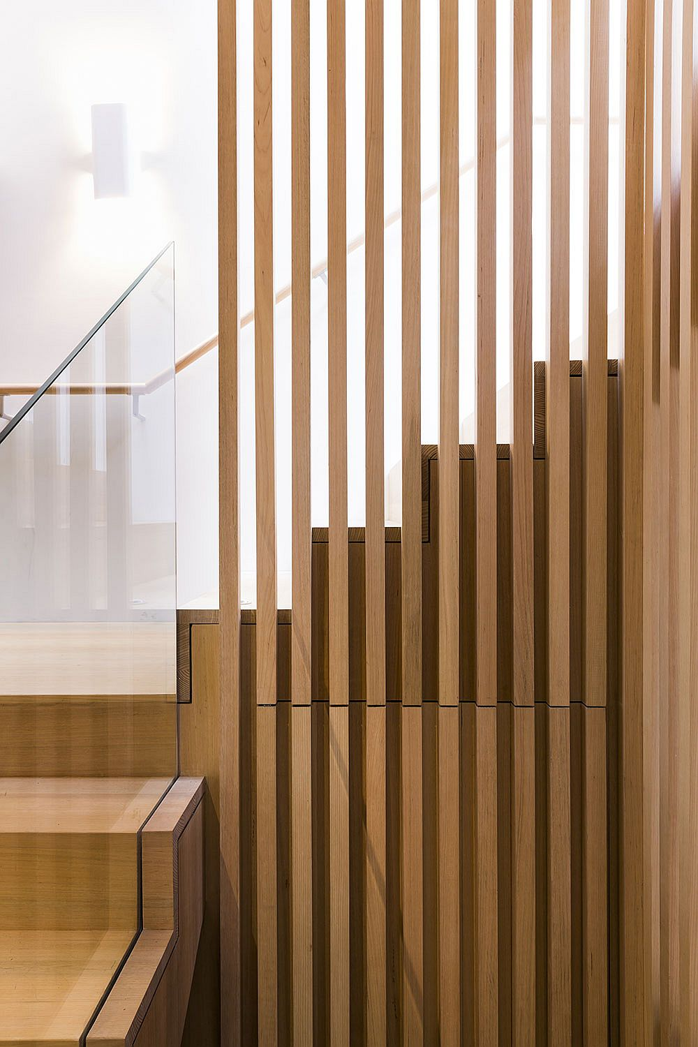 Intricate and contemporary design of the staircase sets the tone for the rest of the house
